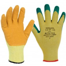 Polyco Matrix® S Grip Crinkle Latex Grip Builders Gloves
