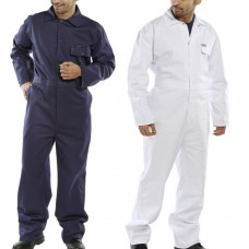Navy Blue 100% All Cotton Pre Shrunk Click Overall Boilersuit