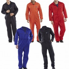 Super Click 2 Way Zip Front Poly/Cotton Workwear Boilersuit