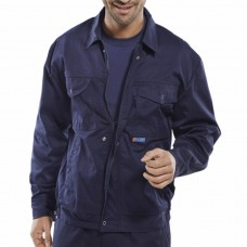 Click Poly Cotton Zipped Drivers Jacket