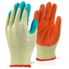 Economy Latex Rubber Palm Builders Grip it Glove Orange or Green
