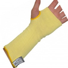 "Double Knit DuPont™Kevlar® 10"" Sleeve with Thumb Slot Cut and Heat Resistant Safety Sleeve"