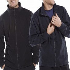 Basic 280gsm Polyester Zipped Fleece Jacket