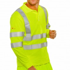 Hi Vis Fire Retardant Breathable Polo Shirt Saturn Yellow