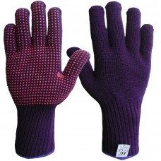 Thermal Extended Long Cuff Acrylic Cold Handling Polka Dot Grip Gloves