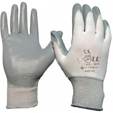 Food Safe Nitrile Palm Coated Low Lint Oil Fat Grease Resistant Glove