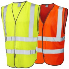 Leo COOLVIZ Summer Hi Visibilty Vest class 2 Yellow/Orange
