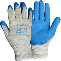 Blue Latex Palm on DuPont™Kevlar® and Steel Cut Level 5 X5 Sumo Safety Gloves 4544