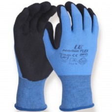 Hydropellent Nitrilon™ Flex PVC-HPT® on a Seamless Blue Nylon Liner Oily Work Gloves