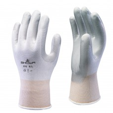 Showa 370 Light Grey on White Palm Coated Nitrile Assembly Grip Glove