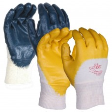 3/4 Nitrile Dipped Cotton Liner M/Weight Gloves Sanitized