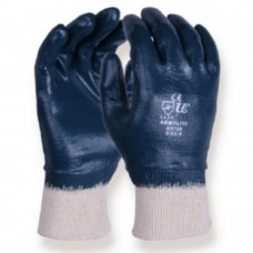 Fully Coated Nitrile on Cotton Liner Knittted Wrist Gloves