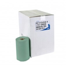 Green 1 ply Roll Hand Towel 76M Lenght 200mm Wide 16 Rolls Per Pack