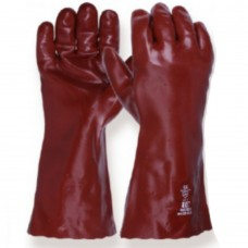 Standard Red PVC gauntlet 14 inch