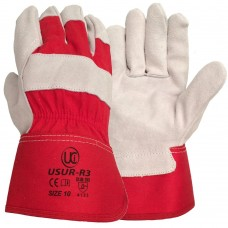 Premium Red Canadian Rigger Fleece Palm Lining Work Gloves.