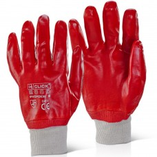 Click 2000 Standard Red PVC Knit Wrist Work Gloves.