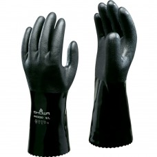 """Showa 660ESD Antistatic Oil and Chemical Resistant Black PVC 12"""" Gauntlet"""