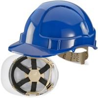 Premium 6 Point Webbing Harness Vented Safety Helmet Hard Hat