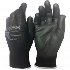 PU Coated Palm on Polyester Liner Klass Work Glove