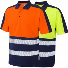COOLVIZ PLUS Summer 2 Colour High Vis Polo Shirt Class 1