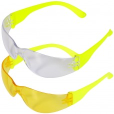 High Vis Yellow Frame with Clear or Yellow Wraparound Lens