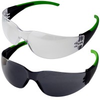 Soft Grip Rubber Side Arm Sports Style Safety Glasses