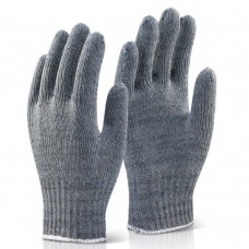 Mixed Fibre Seamless Glove Grey HeavyWeight