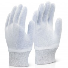 Bleached White Super Stockinette Knitwrist Gloves