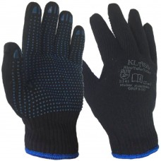 Grip & Go Navy Mixed Fibre Thermal Properties with Blue PVC Dot Palm Gloves