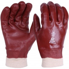 Redek Standard Red PVC Knit Wrist Work Gloves.