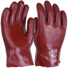 Chemical & Solvent Resistant Rednek Red PVC 27cm 11'' Gauntlet