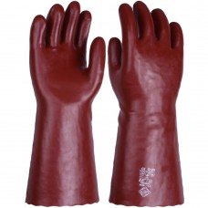 "RedNek Chemical & Solvent Resistant Red PVC 40cm 16"" Gauntlet"