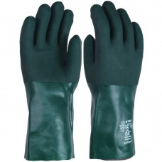 "Chemical Resistant & Anti Static Green Double Dipped PVC 14"" Gauntlet"