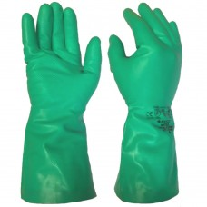 Poyco Matrix® Nitri-Chem L/Weight Nitrile Flock Lined Chemical Gloves