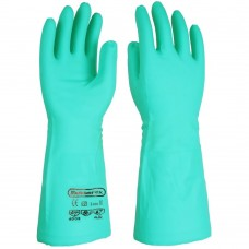 "Longer Length 16"" 41cm Nitron Green Nitrile Chemical Handling Gauntlets"