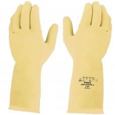 Polyco Processor II™ M/Weight Natural Rubber UnLined Glove Food Safe EN1186 EN421