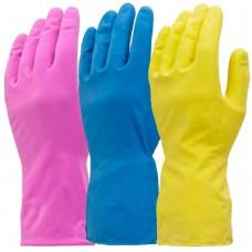 Washing Up Gloves Mediumweight Flock Lined 3 colours
