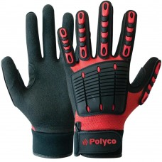 Multi-Task Rubber Impact Protection with Thumb Crotch Hard Work Gloves