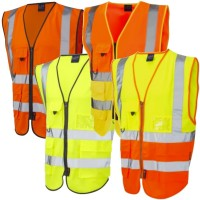 Executive Zipped Leo High Vis Waistcoat phone and ID holder Class 2