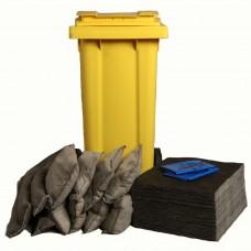 120 Litre Wheeled Bin Ecospill Maintenance Spill Control Kit
