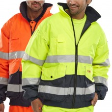 Removable Sleeves 2 Tone Class 3 High Visibility Bomber Jacket