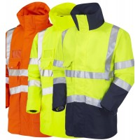 Breathable, Wind and Waterproof Hi Vis Anorak Class 3 GO/RT