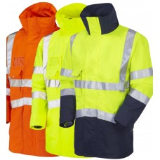 Breathable, Wind and Waterproof Hi Vis Anorak Class 3 Ris-3279-Tom Railway Use Certified