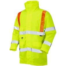 Highways Traffic Coat Yellow with Orange Braces ISO 20471