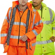 Coat & Bodywarmer Combo Hi Vis Class 3 & Railspec (orange)