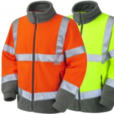 Leo Fleece Jacket High Vis Yellow Class 3 & RailSpec Orange