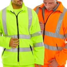 Fleece Jacket High Visibility Yellow or Orange Bseen Carnoustie Class 3