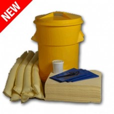 90L Chemical Spill Response Kit Circular PE Bin