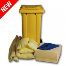 120L Chemical Spill Response Kit 2 Wheel PE Bin