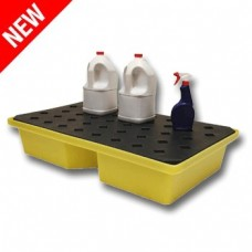 60L Ecospill Recycled PE Spill Tray with Grate